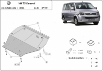 Scut auto Volkswagen Caravell T5