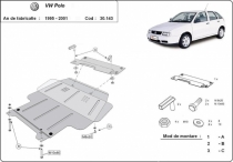 Scut auto Volkswagen Polo - 6N, 6N1, 6K, Classic, Variant