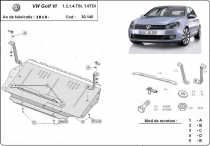 Scut auto VW Golf 6